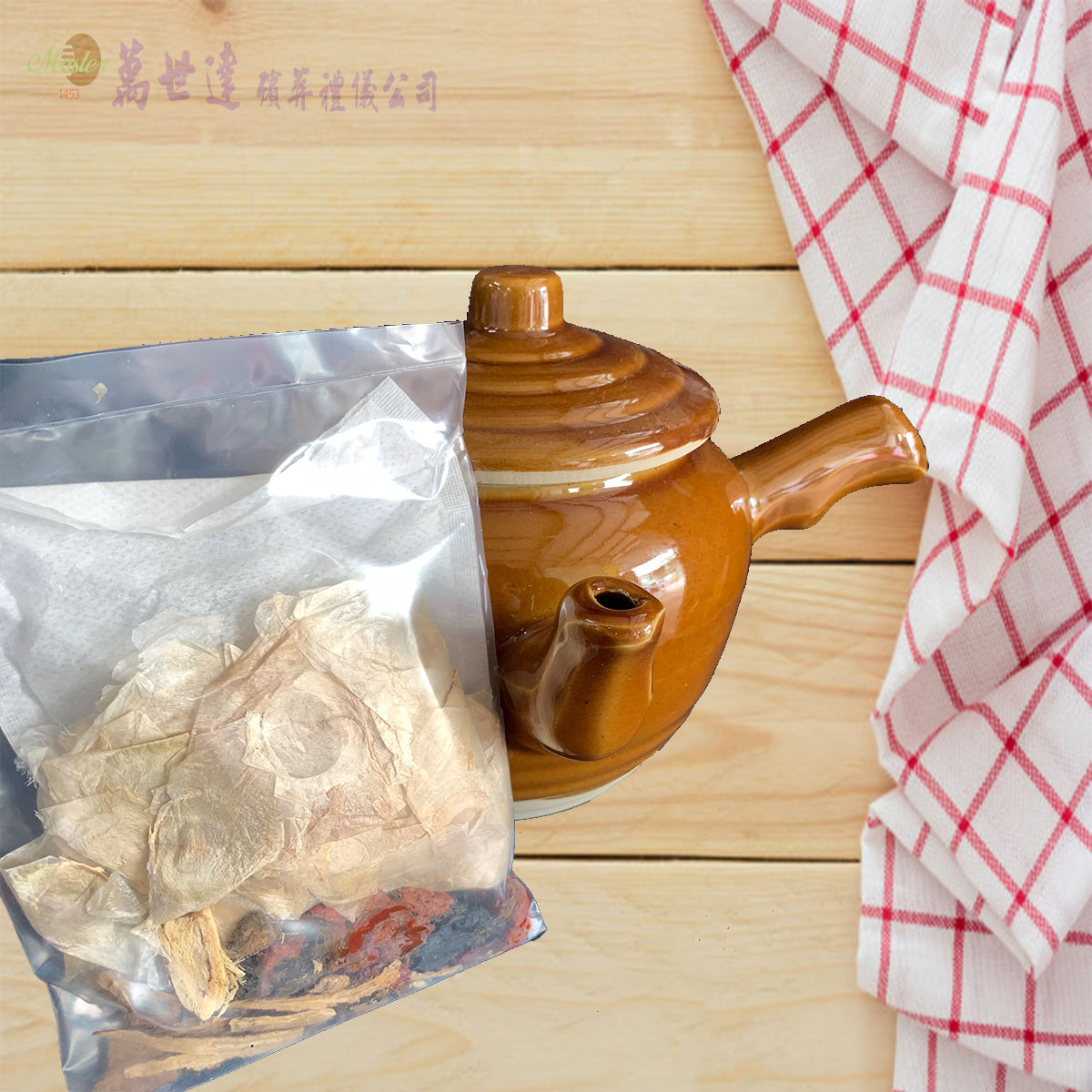 法事祭品-尾日飽福葷六飯菜全組含未煮八珍湯藥壺(葷)