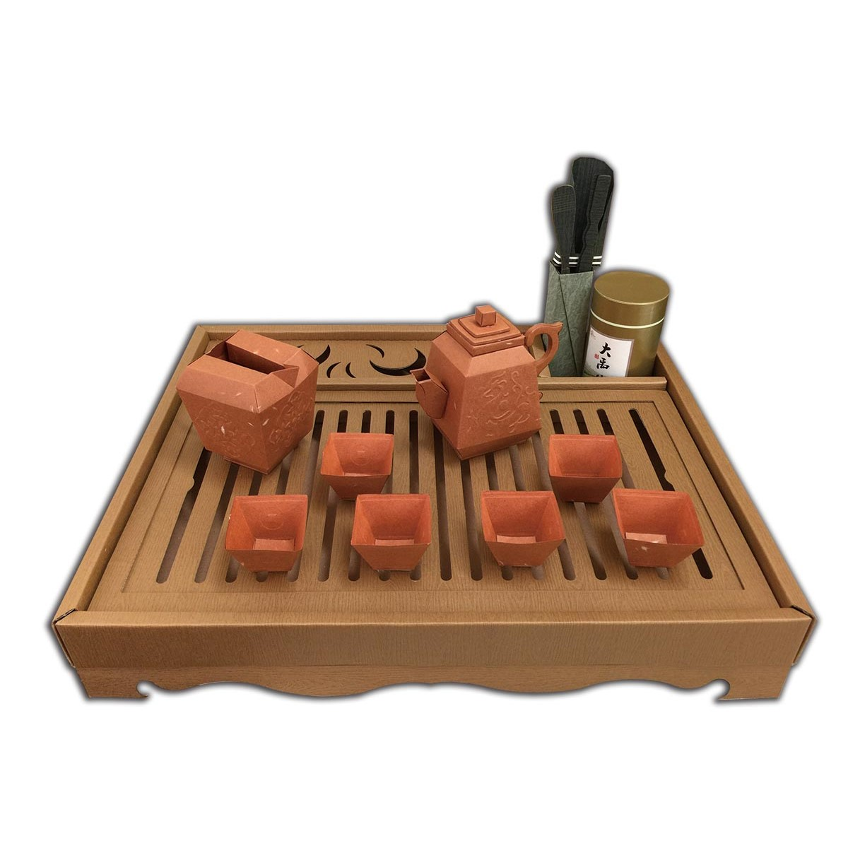 磚紅品茗茶具