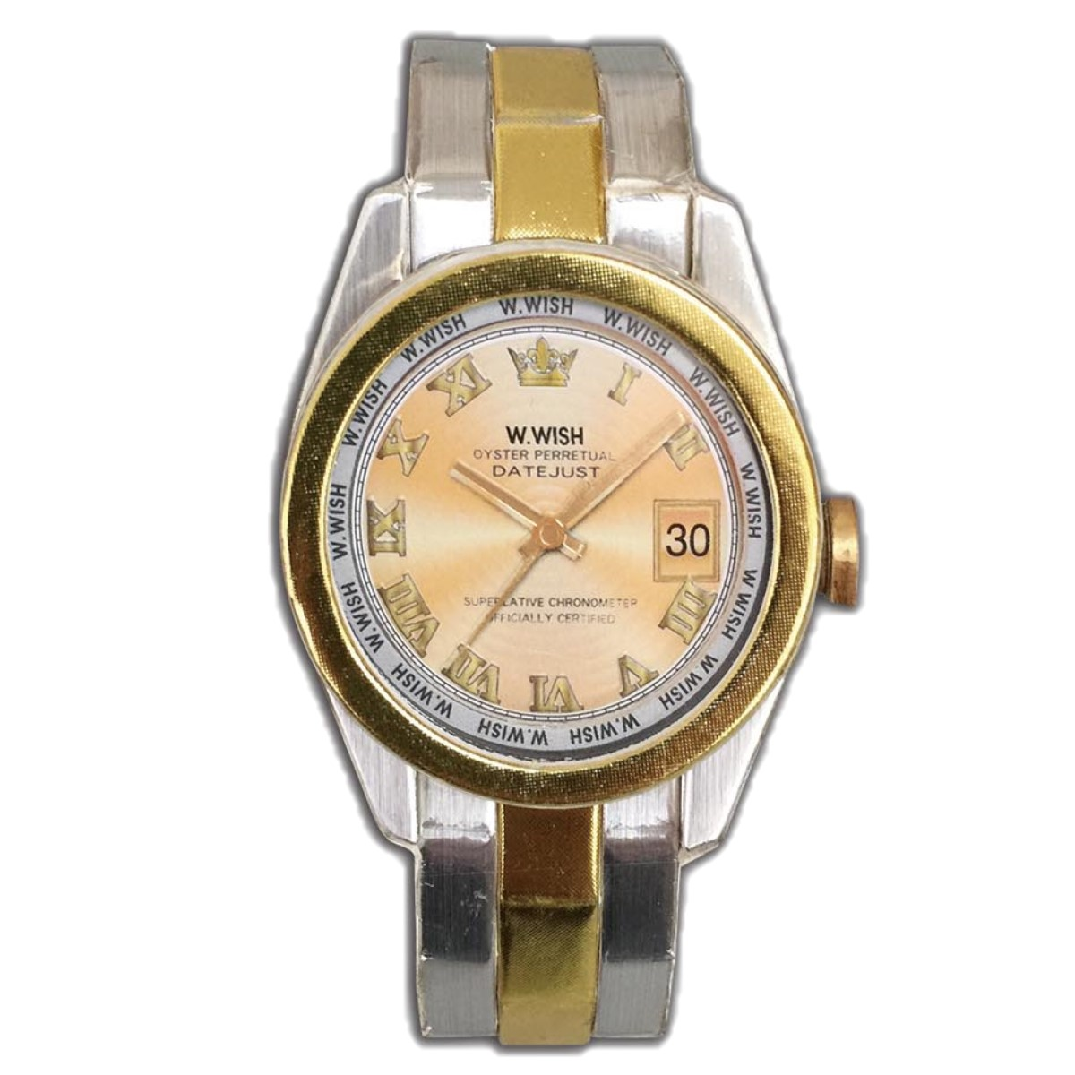 金色勞力士手錶一支
